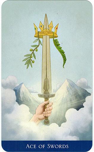 Ý nghĩa lá Ace of Swords trong bộ bài Llewellyn's Classic Tarot