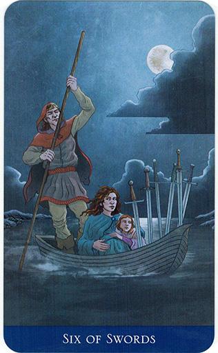 Ý nghĩa lá Six of Swords trong bộ bài Llewellyn's Classic Tarot