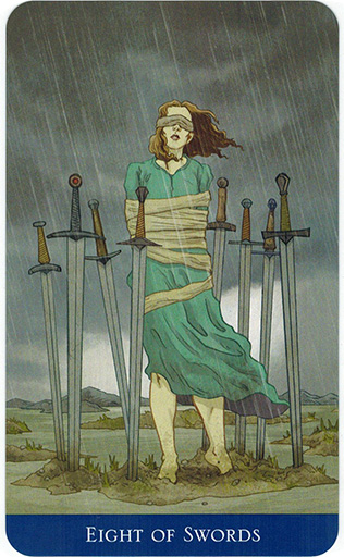 Ý nghĩa lá Eight of Swords trong bộ bài Llewellyn's Classic Tarot