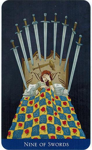 Ý nghĩa lá Nine of Swords trong bộ bài Llewellyn's Classic Tarot
