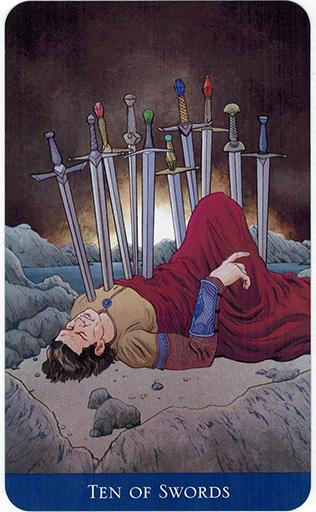 Ý nghĩa lá Ten of Swords trong bộ bài Llewellyn's Classic Tarot