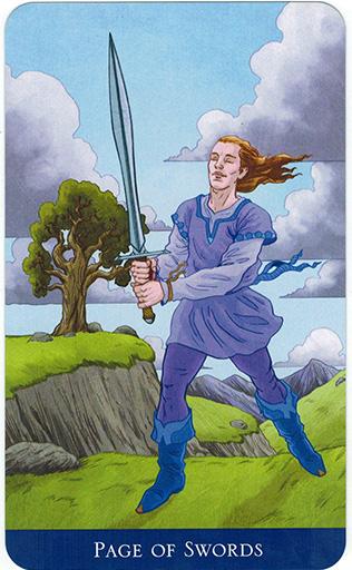 Ý nghĩa lá Page of Swords trong bộ bài Llewellyn's Classic Tarot