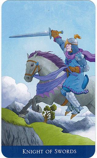 Ý nghĩa lá Knight of Swords trong bộ bài Llewellyn's Classic Tarot