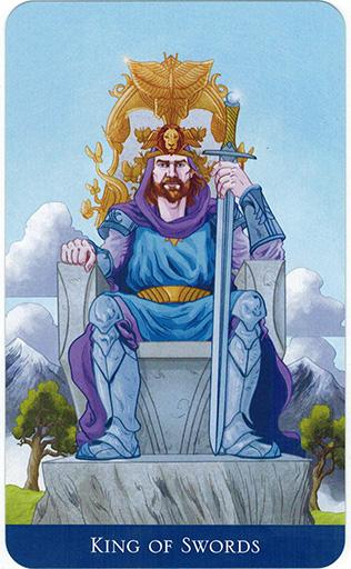 Ý nghĩa lá King of Swords trong bộ bài Llewellyn's Classic Tarot