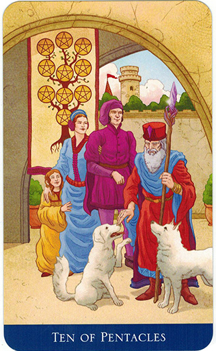Ý nghĩa lá Ten of Pentacles trong bộ bài Llewellyn's Classic Tarot