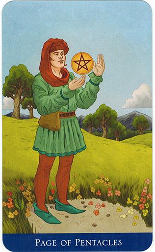 Ý nghĩa lá Page of Pentacles trong bộ bài Llewellyn's Classic Tarot