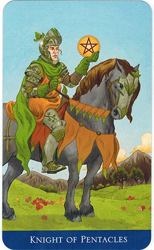 Ý nghĩa lá Knight of Pentacles trong bộ bài Llewellyn's Classic Tarot