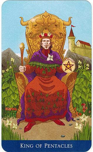 Ý nghĩa lá King of Pentacles trong bộ bài Llewellyn's Classic Tarot