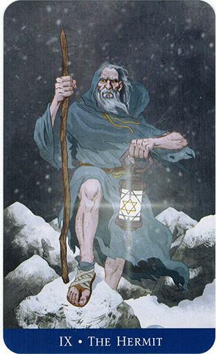 Ý nghĩa lá The Hermit trong bộ bài Llewellyn's Classic Tarot