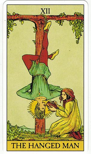 Ý nghĩa lá The Hanged Man trong bộ bài After Tarot