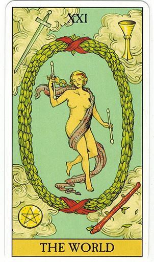 Ý nghĩa lá The World trong bộ bài After Tarot