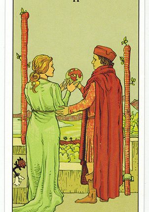 Lá Two of Wands – After Tarot
