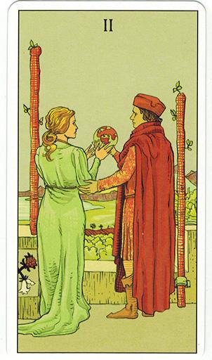 Ý nghĩa lá Two of Wands trong bộ bài After Tarot