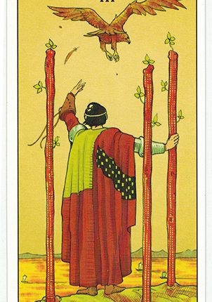 Lá Three of Wands – After Tarot