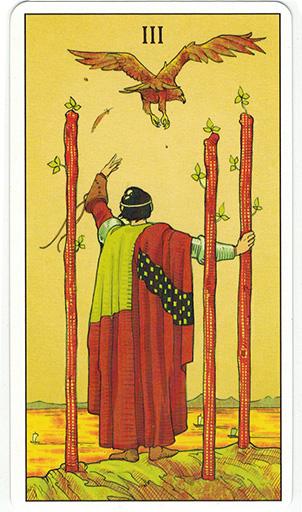 Ý nghĩa lá Three of Wands trong bộ bài After Tarot