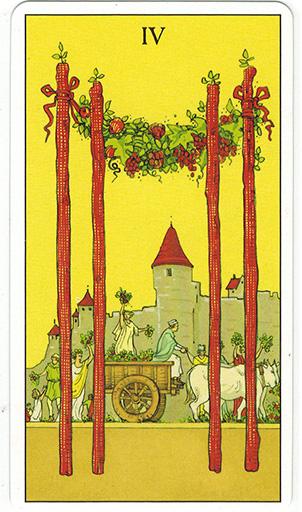 Ý nghĩa lá Four of Wands trong bộ bài After Tarot
