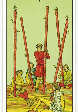 Lá Five of Wands – After Tarot