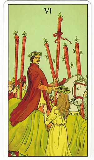 Ý nghĩa lá Six of Wands trong bộ bài After Tarot