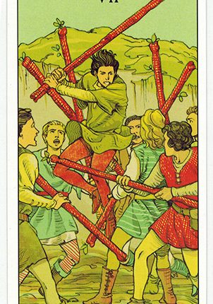 Lá Seven of Wands – After Tarot