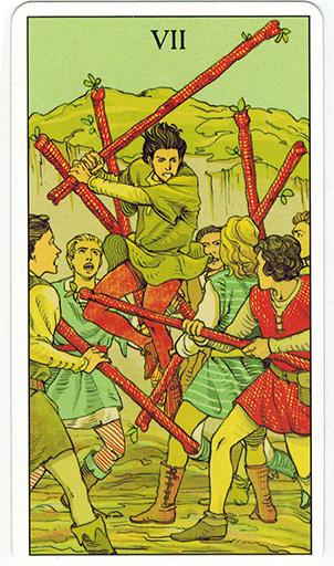 Ý nghĩa lá Seven of Wands trong bộ bài After Tarot
