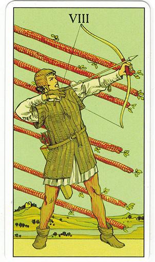 Ý nghĩa lá Eight of Wands trong bộ bài After Tarot