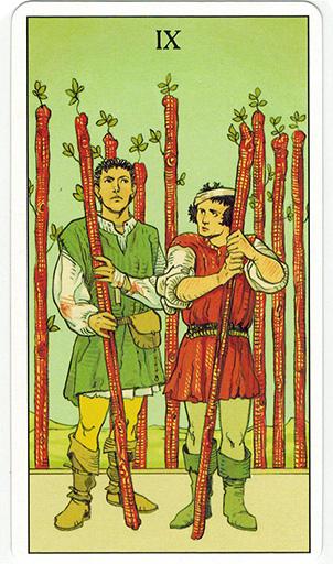 Ý nghĩa lá Nine of Wands trong bộ bài After Tarot