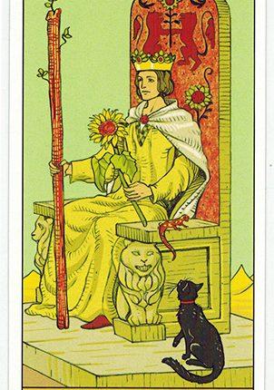 Lá Queen of Wands – After Tarot