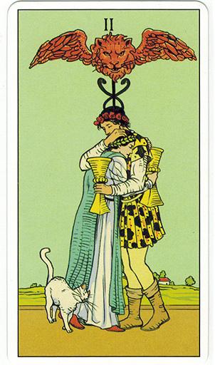 Ý nghĩa lá Two of Cups trong bộ bài After Tarot