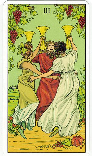 Ý nghĩa lá Three of Cups trong bộ bài After Tarot