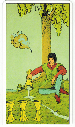 Ý nghĩa lá Four of Cups trong bộ bài After Tarot