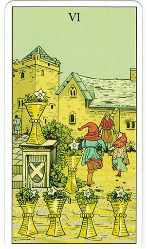 Ý nghĩa lá Six of Cups trong bộ bài After Tarot