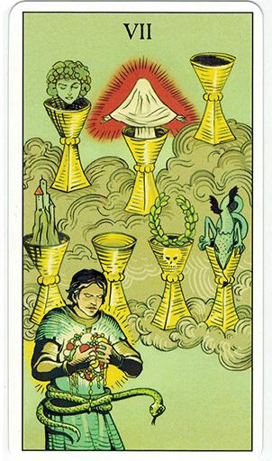 Ý nghĩa lá Seven of Cups trong bộ bài After Tarot
