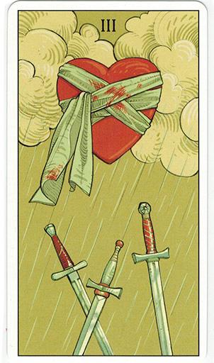 Ý nghĩa lá Three of Swords trong bộ bài After Tarot