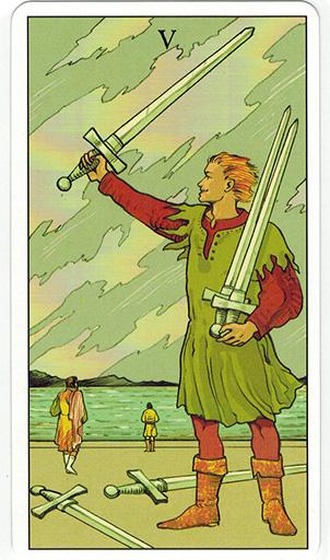 Ý nghĩa lá Five of Swords trong bộ bài After Tarot