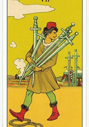 Lá Seven of Swords – After Tarot