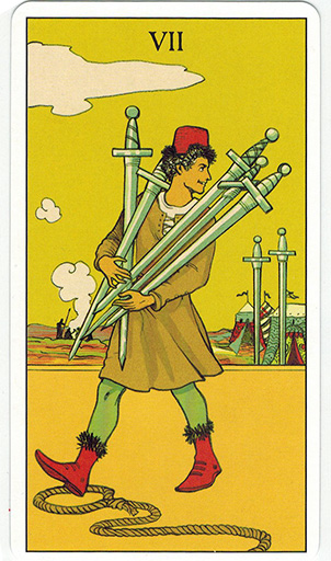 Ý nghĩa lá Seven of Swords trong bộ bài After Tarot