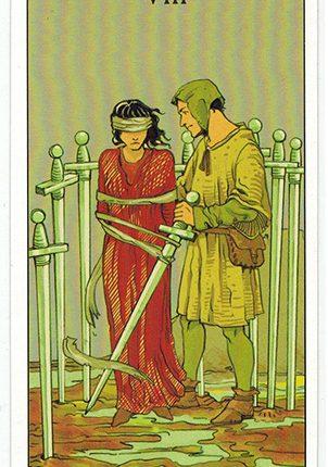 Lá Eight of Swords – After Tarot