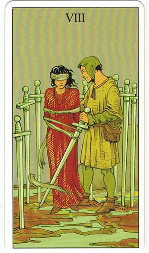 Ý nghĩa lá Eight of Swords trong bộ bài After Tarot