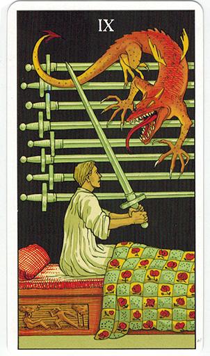 Ý nghĩa lá Nine of Swords trong bộ bài After Tarot
