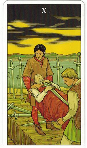 Ý nghĩa lá Ten of Swords trong bộ bài After Tarot