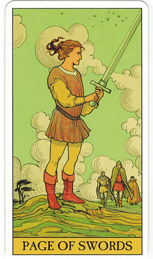 Ý nghĩa lá Page of Swords trong bộ bài After Tarot