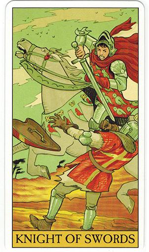 Ý nghĩa lá Knight of Swords trong bộ bài After Tarot