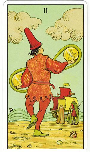 Ý nghĩa lá Two of Pentacles trong bộ bài After Tarot