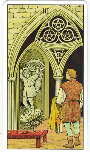 Ý nghĩa lá Three of Pentacles trong bộ bài After Tarot