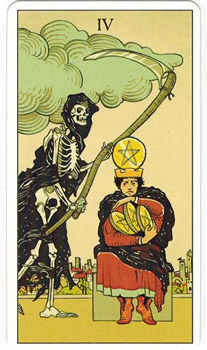 Ý nghĩa lá Four of Pentacles trong bộ bài After Tarot