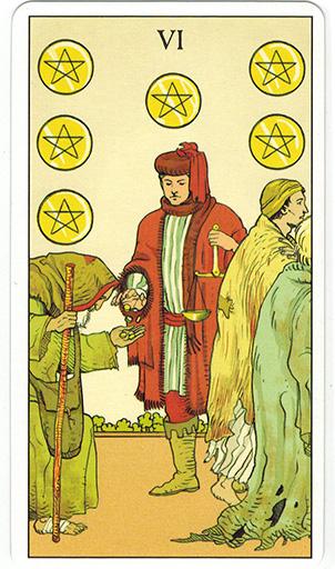 Ý nghĩa lá Six of Pentacles trong bộ bài After Tarot