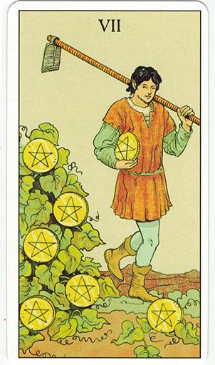 Ý nghĩa lá Seven of Pentacles trong bộ bài After Tarot