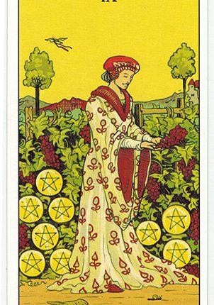 Lá Nine of Pentacles – After Tarot