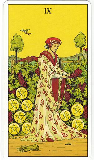 Ý nghĩa lá Nine of Pentacles trong bộ bài After Tarot
