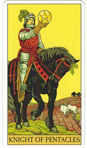 Ý nghĩa lá Knight of Pentacles trong bộ bài After Tarot